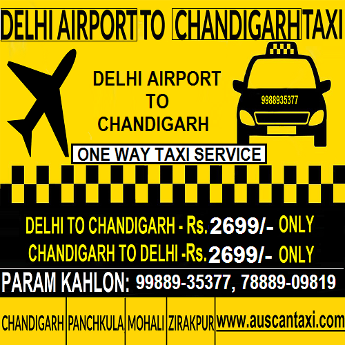 Delhi to Panchkula One Way Taxi Service